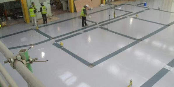 Factory & Warehouse Floor Painting / Line Marking Systems