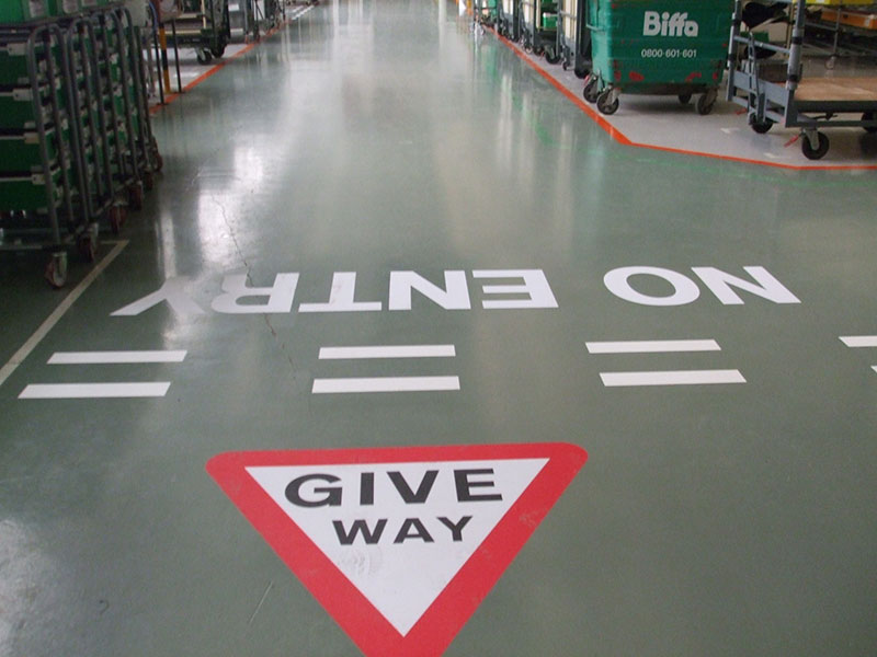 Bentley Motors New Epoxy Floor Paint and Line Markings