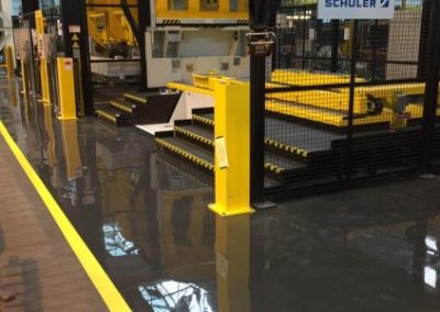 Vauxhall Motors Flowcoat LXP Resin Floor Coating System with Line Markings
